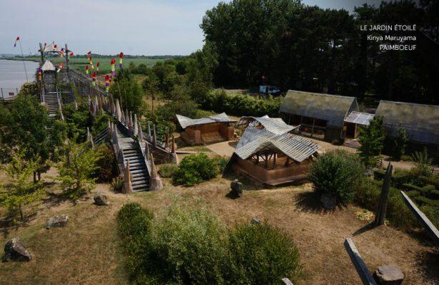Jardin étoilé œuvre estuaire à Paimboeuf