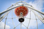 montée en ballon au Centre Terre d'estuaire