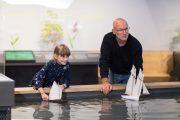 découverte batellerie de Loire autour du bassin en eau Terre d'estuaire